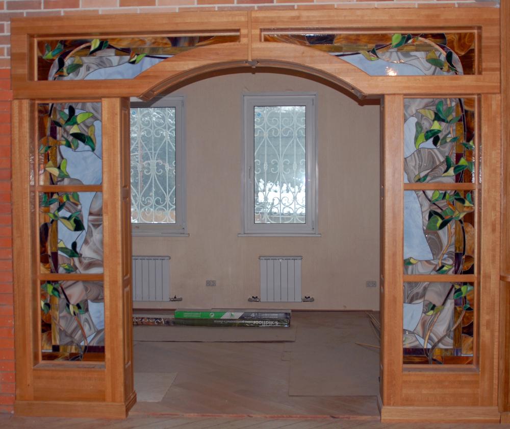 Межкомнатные арки из дерева фото
